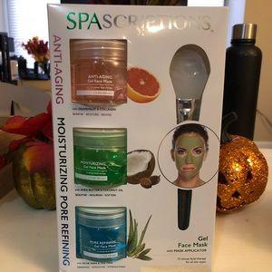 Brand new SpaScriptions gel face masks